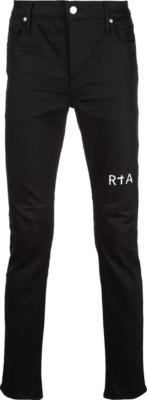 Rta Logo Print Black Jeans