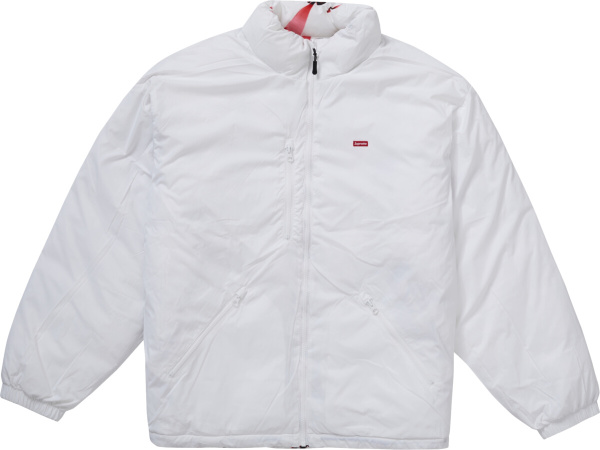 Supreme Watches Reversible Puffy Jacket White