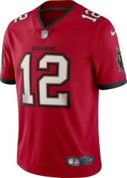 Tampa Bay Buccaneers #12 Brady Red Jersey