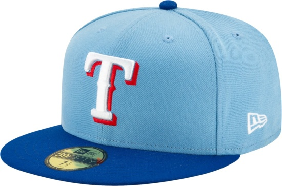 Texas Rangers Two Tone Light Blue Royal Blue Fitted Hat