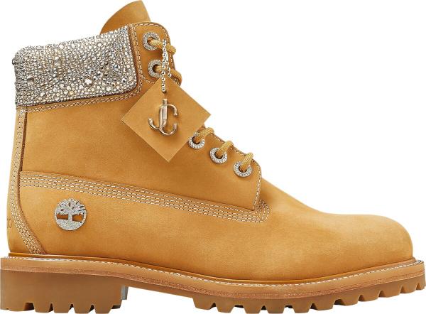 Timberland X Jimmy Choo Beige & Crystal Boots