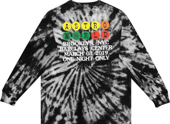 Travis Scott Astroworld Tour Burning Train Barclays Long Sleeve T Shirt