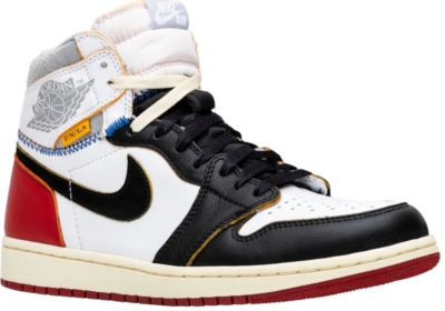 Union X Air Jordan 1 Retro High 'black Toe' Sneakers