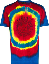 Versace Blue, Red, & Yellow Tie Dye T Shirt
