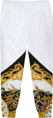 Versace White Barocco 'acanthus' Trackpants