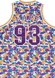 A Bathing Ape Camo Lape Basketball Jersey