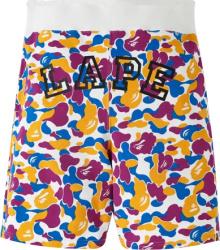 A Bathing Ape Camo Lape Shorts