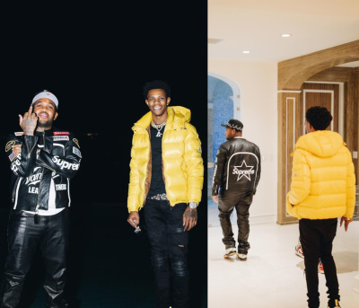 A Boogie And Mustard Wearing Supreme Moncler Louis Vuitton Off White Jordan And Dior