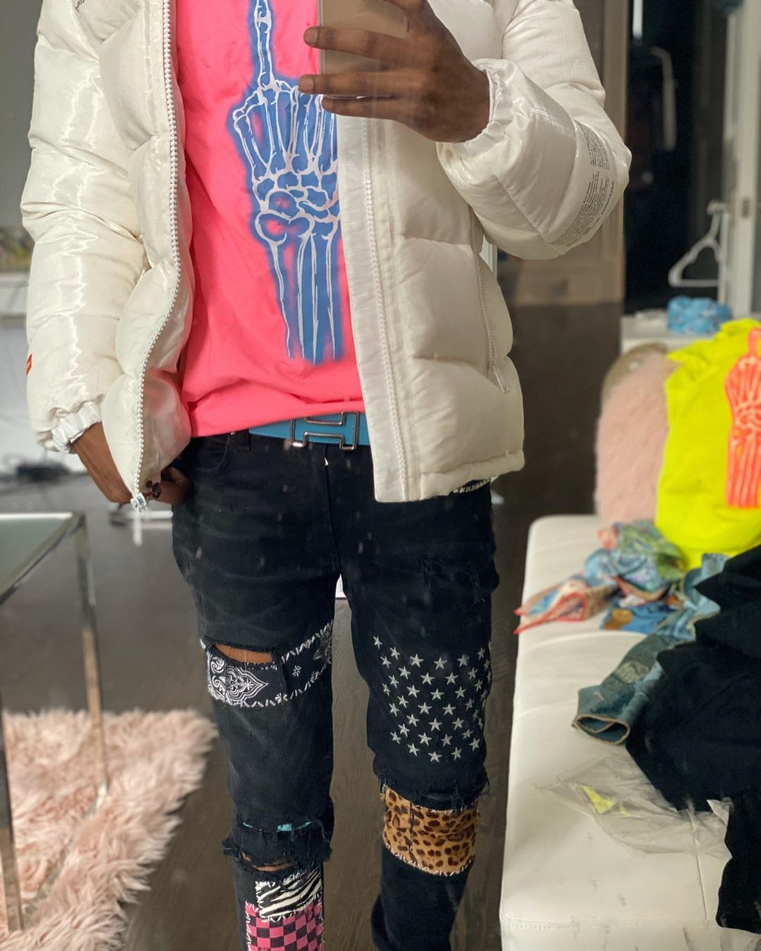 A Boogie Shows Off His Heron Preston Amiri Dior And Hermes Fit