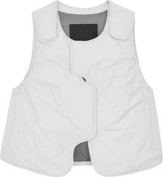 A Cold Wall White Cropped Bull Rider Vest