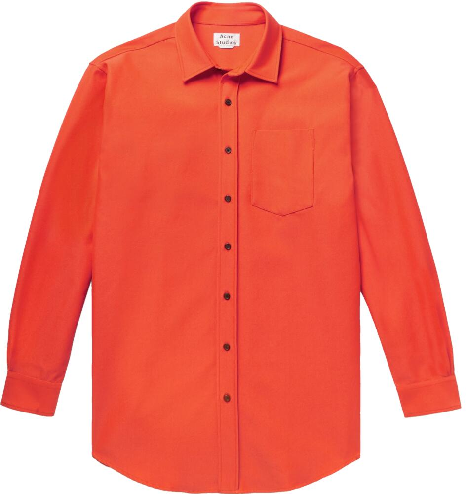 Acne Studios Orange Button Down Shirt