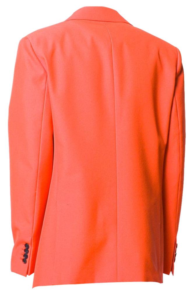 Acne Studios Orange Two Button Jacket Worn By Gunna