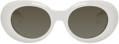 Acne Studios White Mustang Sunglasses