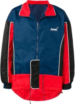 Ader Error Red Blue And Black Arrow Print Jacket