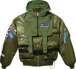 Ader Error X Alpha Industries Green Bomber Jacket