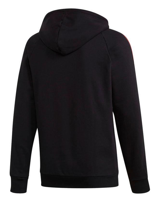 adidas tape hoodie black