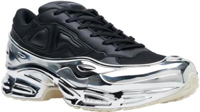 Adidas By Raf Simons Black And Metallic Sneakers