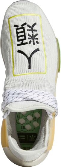 Adidas Nmd Hu Pharrell White Yellow Blue Sneakers