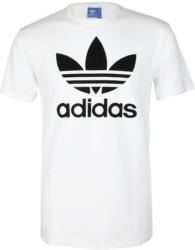 Trefoil Print White T-Shirt