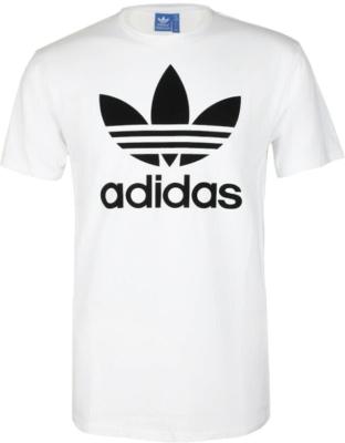 Adidas Originals Trefoil Print White T Shirt