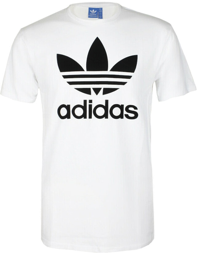 Adidas Originals Trefoil Print White T Shirt