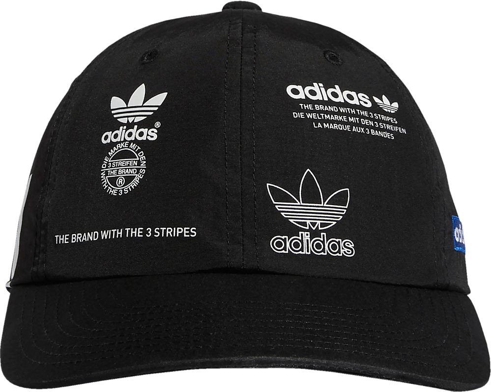 Adidas Stamp Print Black Hat