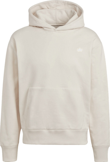 Adidas White Adicolor Trefoil Hoodie