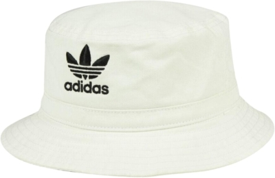 Adidas White Washed Cotton Bucket Hat