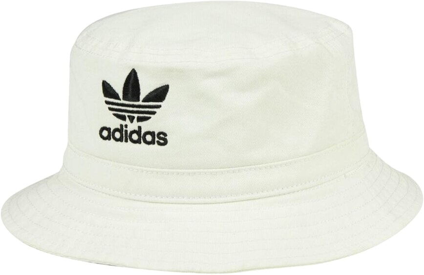 Adidas White Washed Cotton Bucket Hat