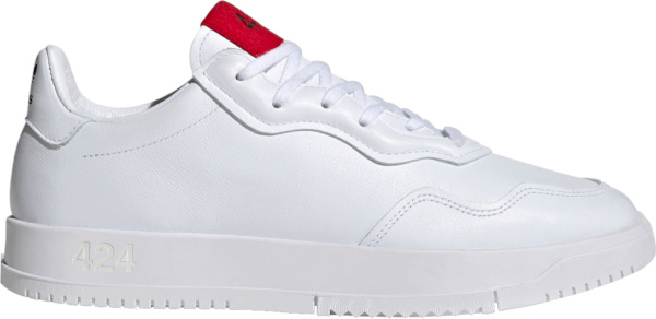 Adidas X 424 White Low Top Sneakers With Red Tongue Patch Fx6740