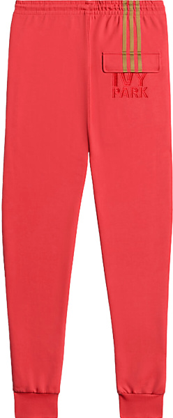 Adidas X Ivy Park Pink And Gold Trackpants