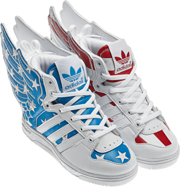 Adidas X Jeremy Scott Wings 2 Usa Flag Stars And Stripes