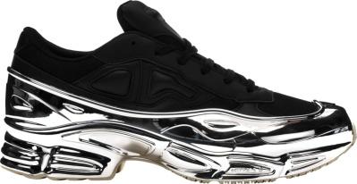 Adidas X Raf Simons Black Silver Ozweego Sneakers