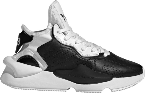 Adidas X Y 3 Black And White Leather Kaiwa Sneakers