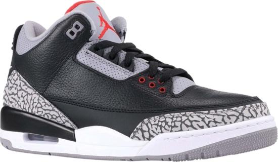Air Jordan 3 Retro Og Black Cement Sneakers