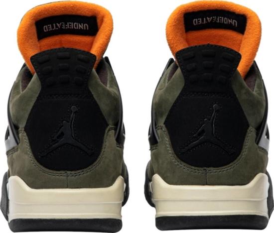 Air Jordan 4 Olive Green Sneakers