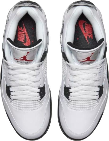 Air Jordan 4 Retro White Cement Sneakers