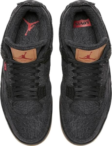 Air Jordan 4 X Levi Triple Black
