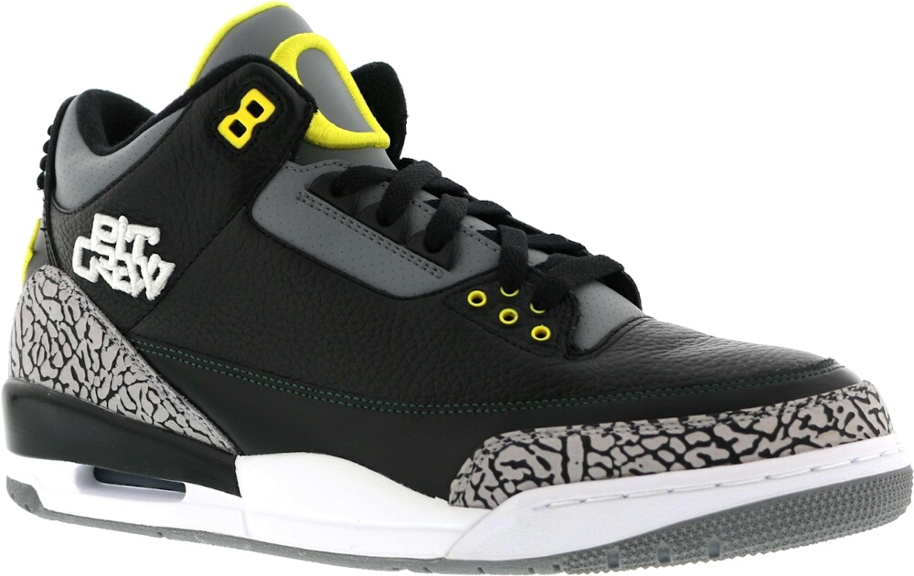 Air Jordan Retro 3 Oregon Pit Crew Sneakers