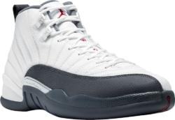 Air Jordan White And Grey Retro 12 Sneakers