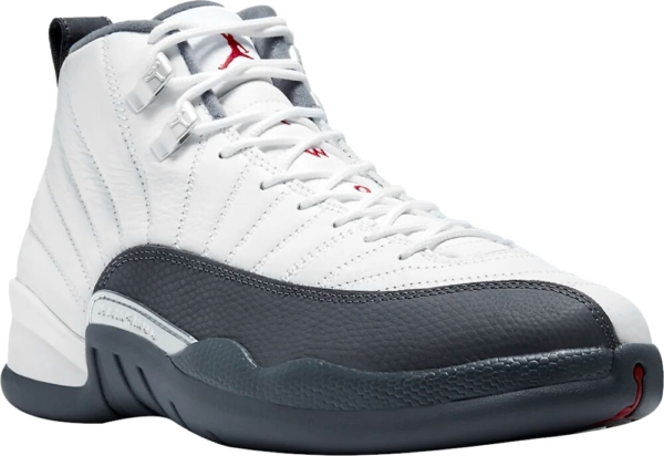 Air Jordan White And Grey Retro 12 Sneakers