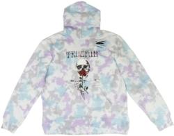 Alchemist Truckin And Skull Print Tie Dye Hoodie