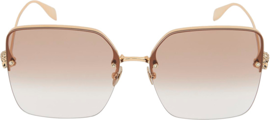 Alexander Brown And Gold Oversized Sunglasses