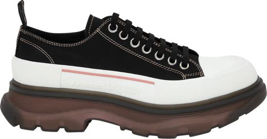 Alexander Mcqueen Black And Clear Sole Low Top Tread Slick Sneakers