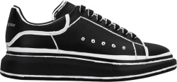 Alexander Mcqueen Black And White Outlined Sneakers