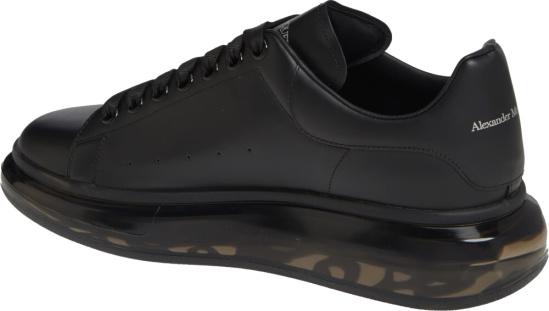 Alexander Mcqueen Black Chunky Clear Sneakers