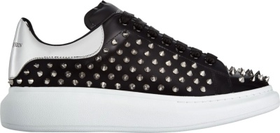 Alexander Mcqueen Black Leather Studded Sneakers