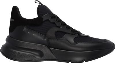 Alexander Mcqueen Black Oversized Runner Sneakers