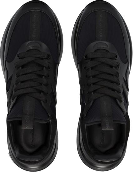 Alexander Mcqueen Black Paneled Sneakers