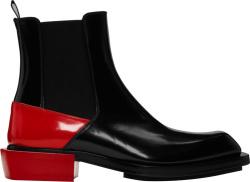 Alexander Mcqueen Black Red Boots